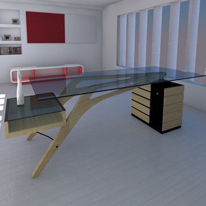 3d model cavour writing desk