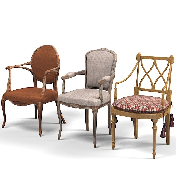 3d model provasi grifoni chair