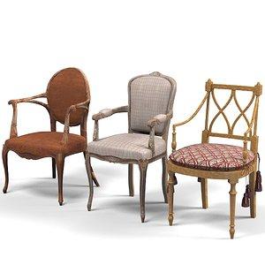 3d model provasi grifoni chair