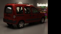renault kangoo 3d model