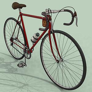 3d model racing bike chain