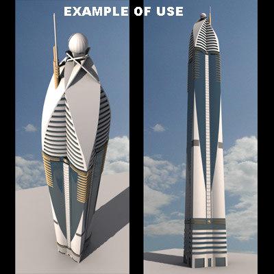 rose tower dubai 3d model
