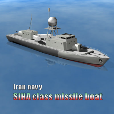 irans missile boat 3d 3ds