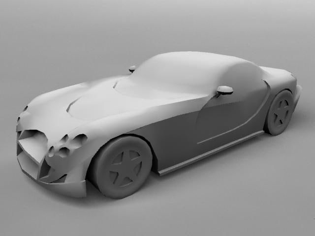tvr cerbera 3d model