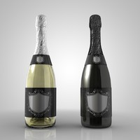 3ds max bottle champagne