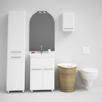 bathroom set 02 3d model