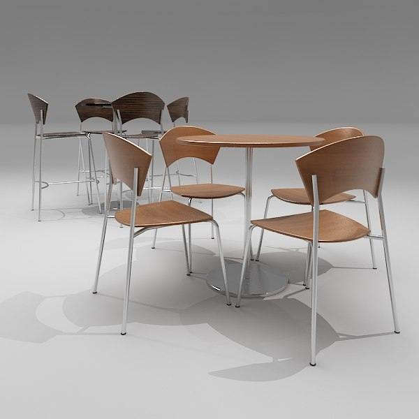 maya cafe bar chair table