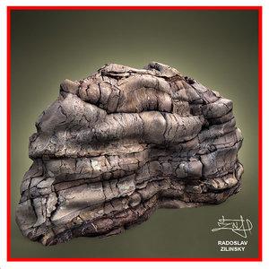 rock layered 3d 3ds
