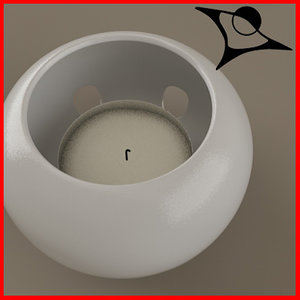 3d model of candle rendered