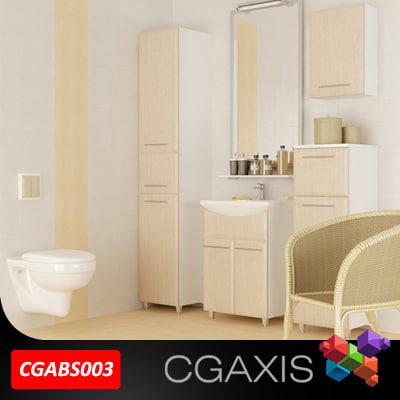 bathroom set 03 3d model