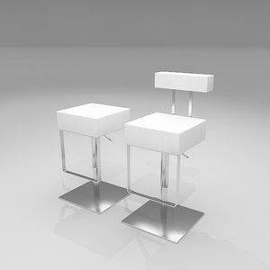 sam bar stool 3d model