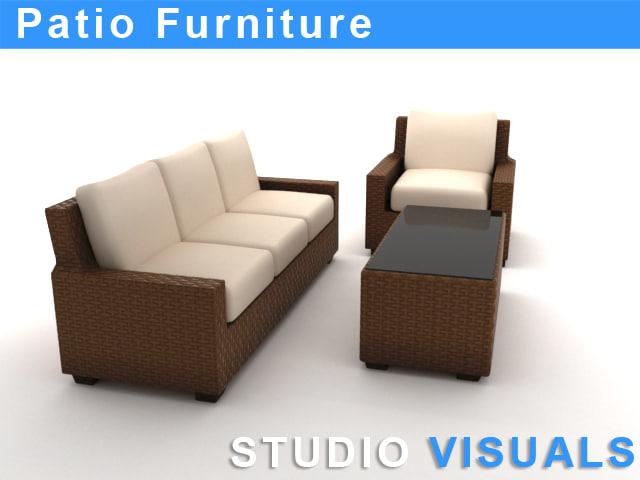 patio furniture 3d model