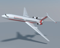 tupolev tu-154 polish 3d model