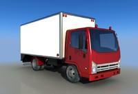 small cargo truck 3d model