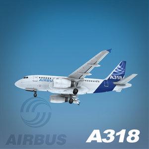 airbus a318 3d model