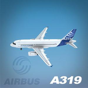airbus a319 3d model