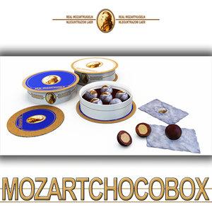 3d model mozart chocolate balls boxes