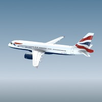 3d airbus a320 british airways