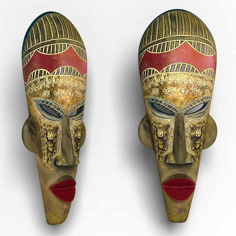 3dsmax african mask