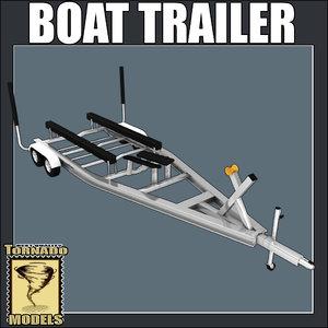 3d model boat trailer