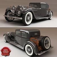 bugatti t-41 1928 3d model