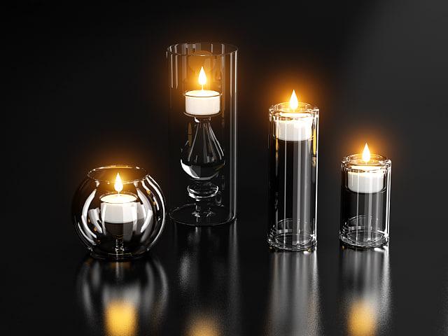 candle candleholder 3d model