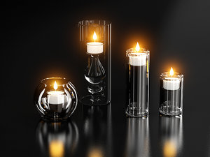candle candleholder 3d model