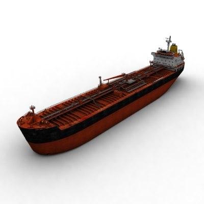 chemical oil tanker 3d model