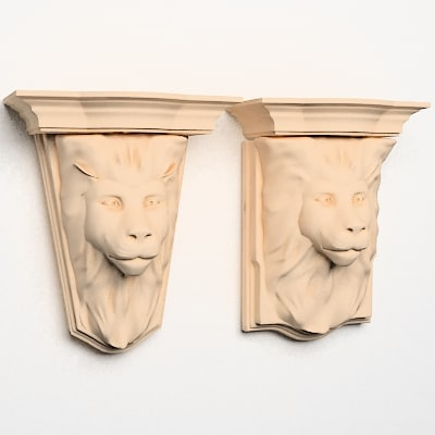 lion head corbels 3d model