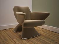 3d model moden chair