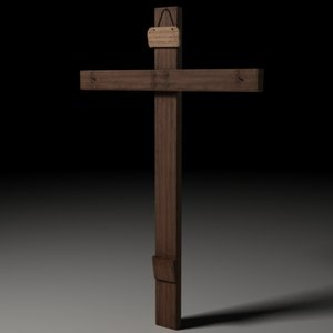 cross jesus christ 3d model