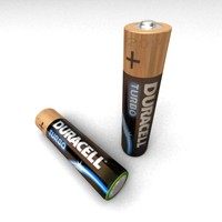 alkaline battery duracell turbo 3d model