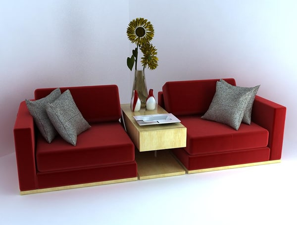 3d emperors couch table model