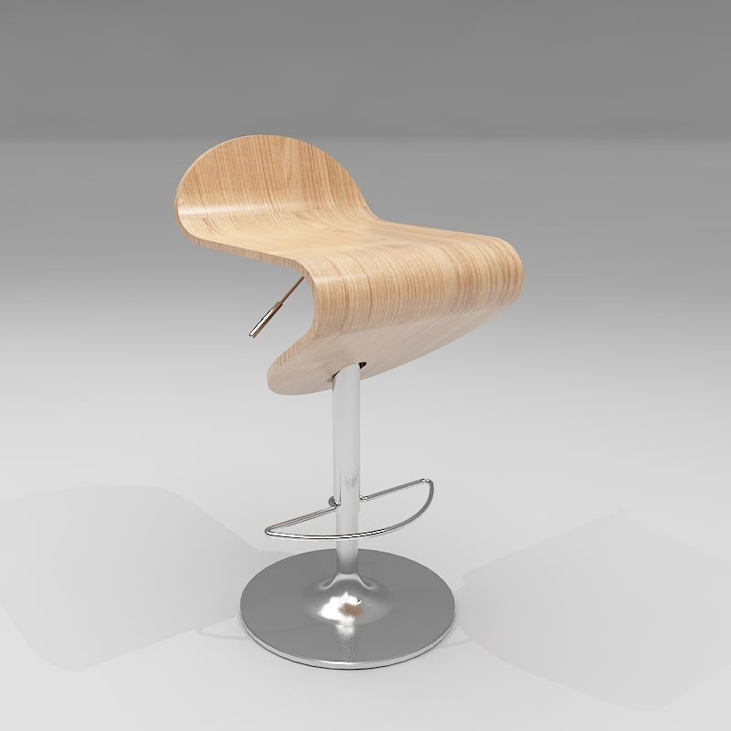 flamingo bar stool 3d model