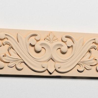 3ds frieze decor wall