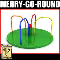 3d merry-go-round x model