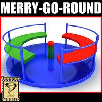 tower merrygoround set 3d model