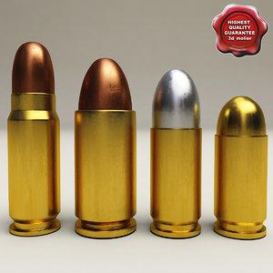pistol cartridges 3d model