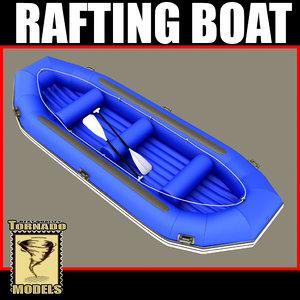 3d model rafting boat - 3
