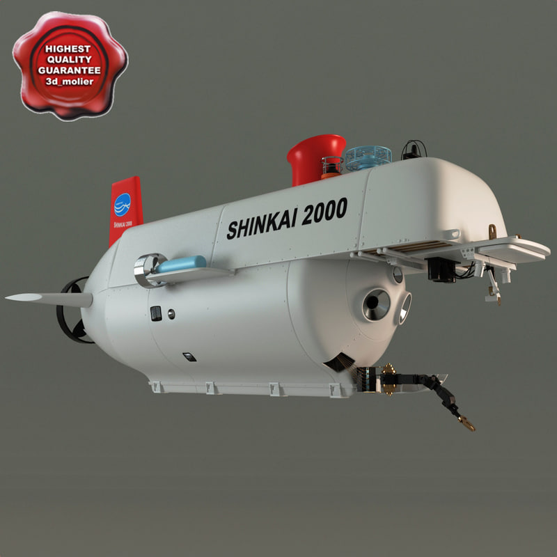 research submersible shinkai 2000 3d model