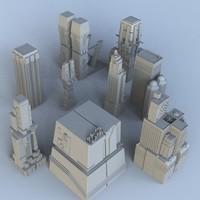 3d 3ds science fiction building set