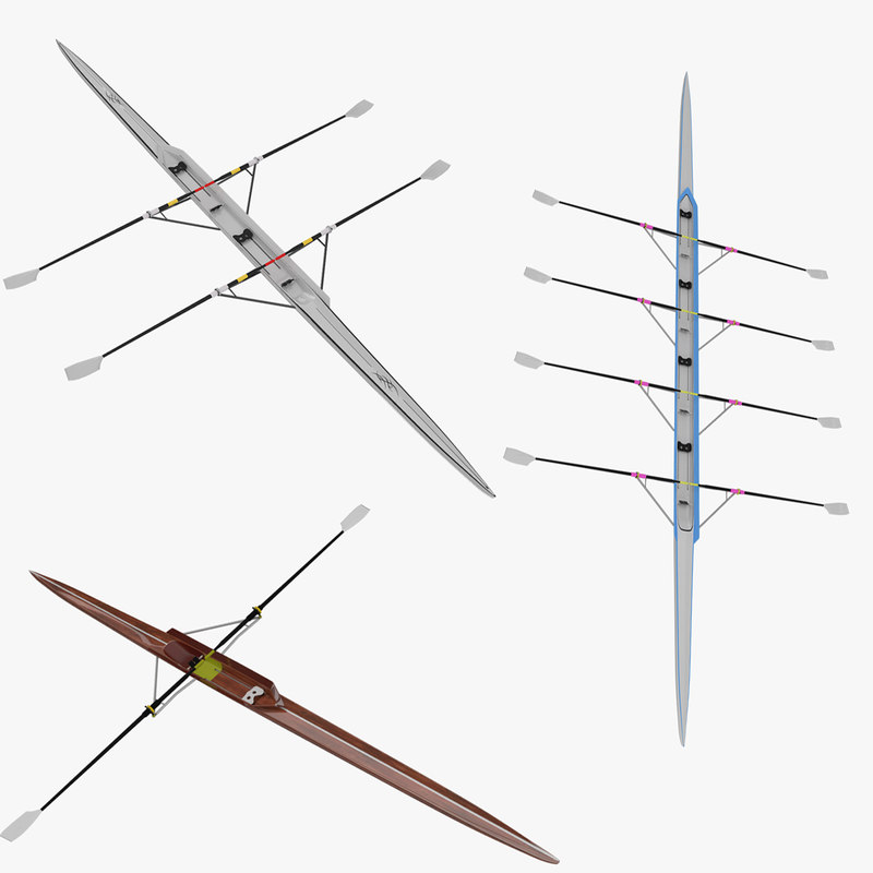 sculls single double 3d model
