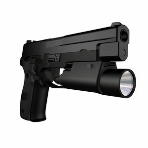 3d accurate sig p226 pistol model