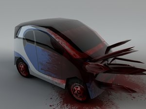 3d blood smart car model