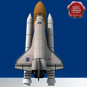 3d obj space shuttle