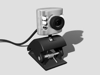 web webcam 3d model
