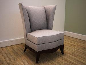 3d upholstered armchair model