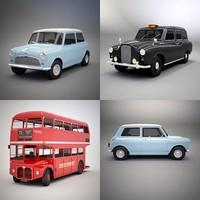 - london bus taxi 3d model