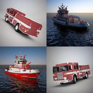 apparatus fireboat 3d model
