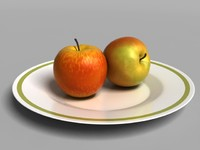 3d model apple v-ray